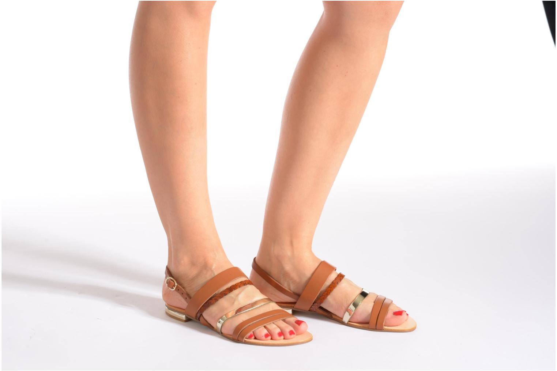 Sandalen Georgia Rose Doloress weiß ansicht von unten / tasche getragen