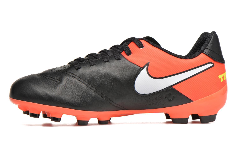 Chaussures de sport Nike Jr Tiempo Legend Vi Fg Noir vue face
