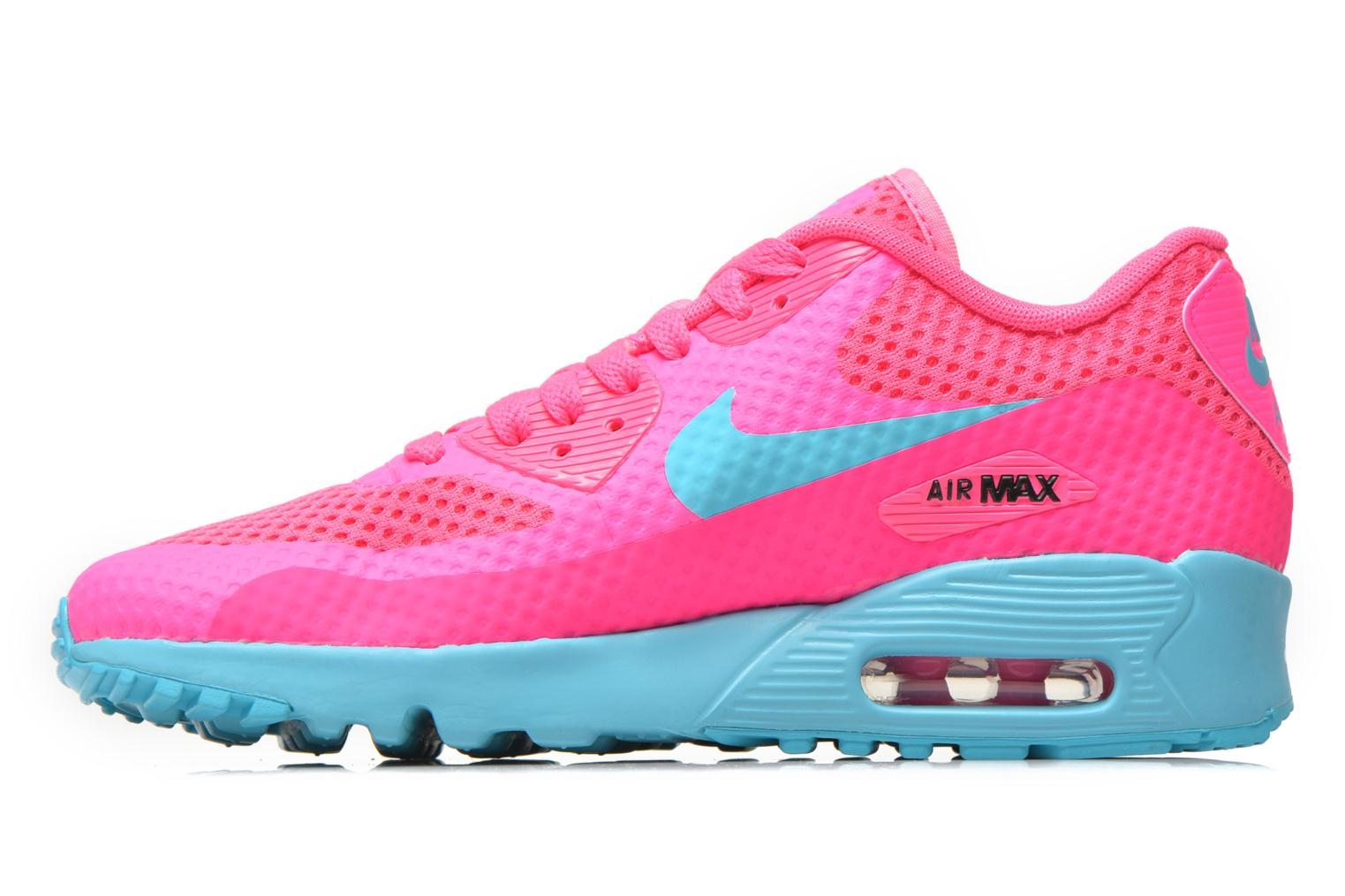 Baskets Nike Nike Air Max 90 Br (Gs) Rose vue face