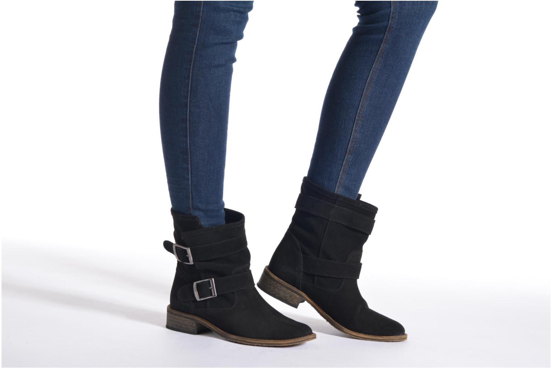 Bottines et boots Addict-Initial Chasuble 2 Noir vue bas / vue portée sac
