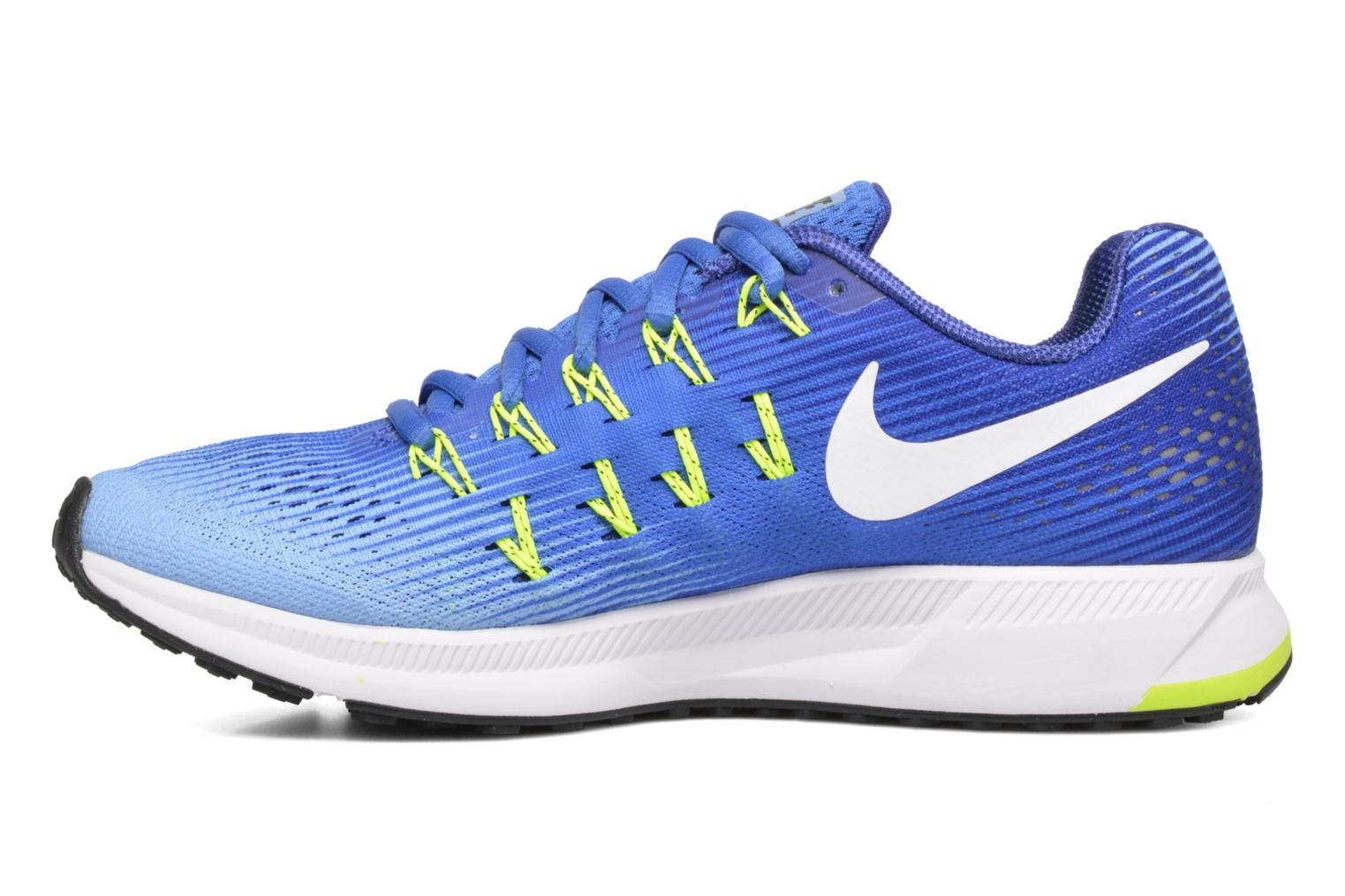 Wmns Nike Air Zoom Pegasus 33 Medium Blue/White-Aluminum-Deep Night