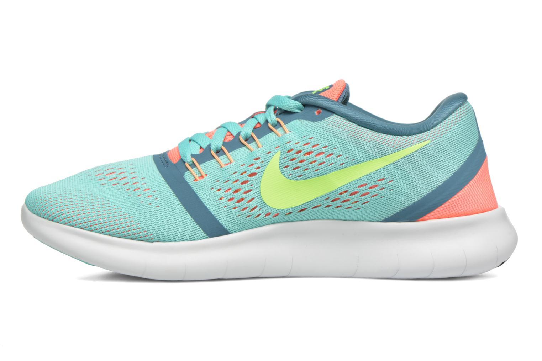Zapatillas de deporte Nike Wmns Nike Free Rn Verde vista de frente