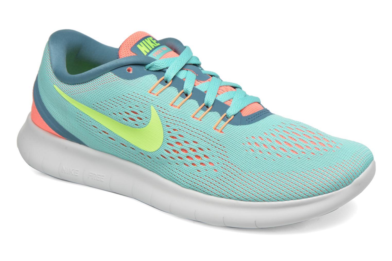 Wmns Nike Free Rn Hyper Turq/Ghost Green-Lava Glow