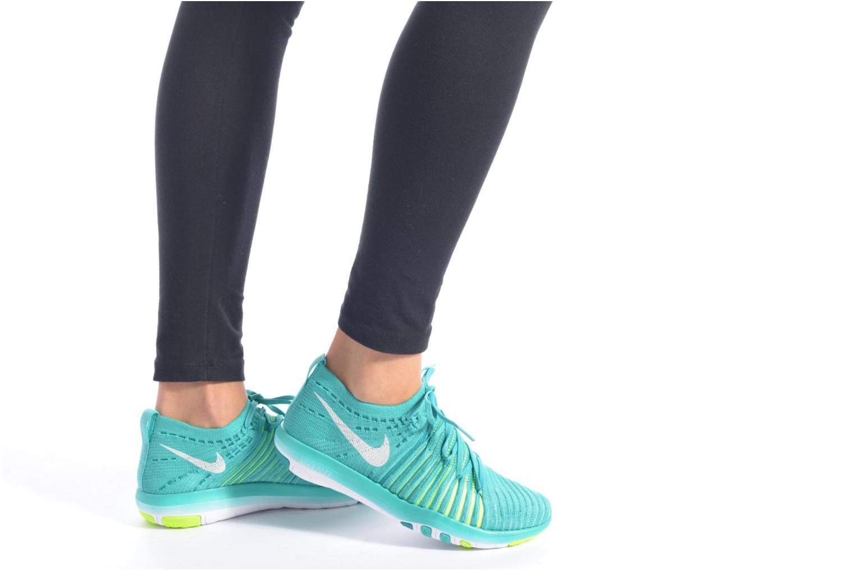 Sport shoes Nike Wm Nike Free Transform Flyknit Black view from underneath / model view
