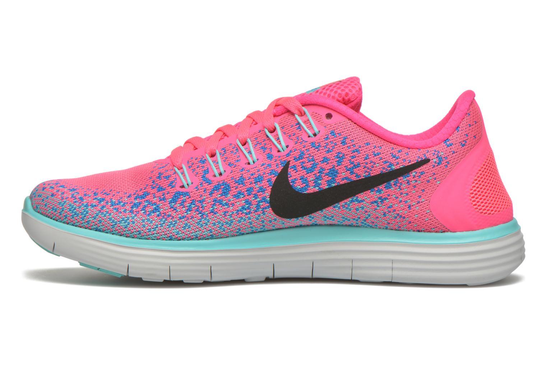 Chaussures de sport Nike Wmns Nike Free Rn Distance Rose vue face