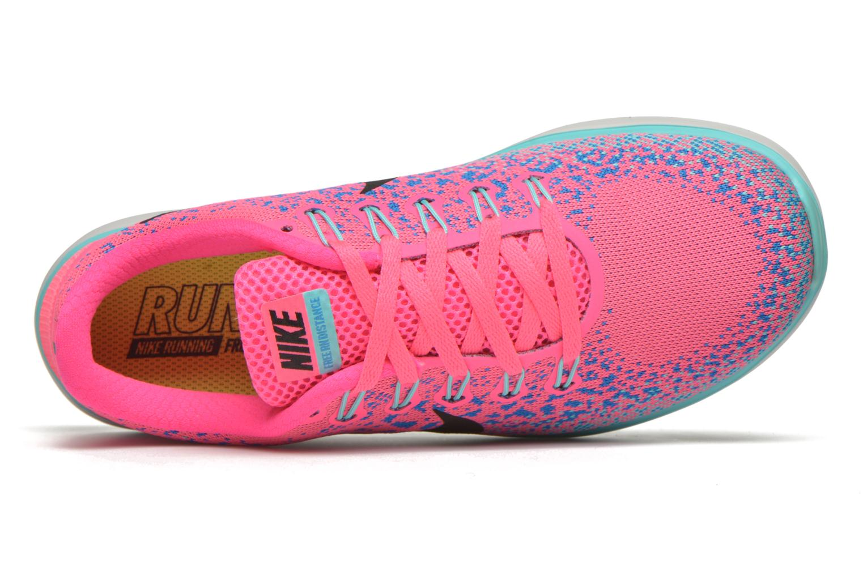 Chaussures de sport Nike Wmns Nike Free Rn Distance Rose vue gauche