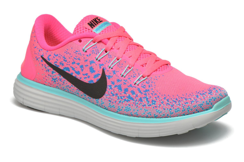 Wmns Nike Free Rn Distance Hyper Pink/Blk-Bl Glw-Hypr Trq