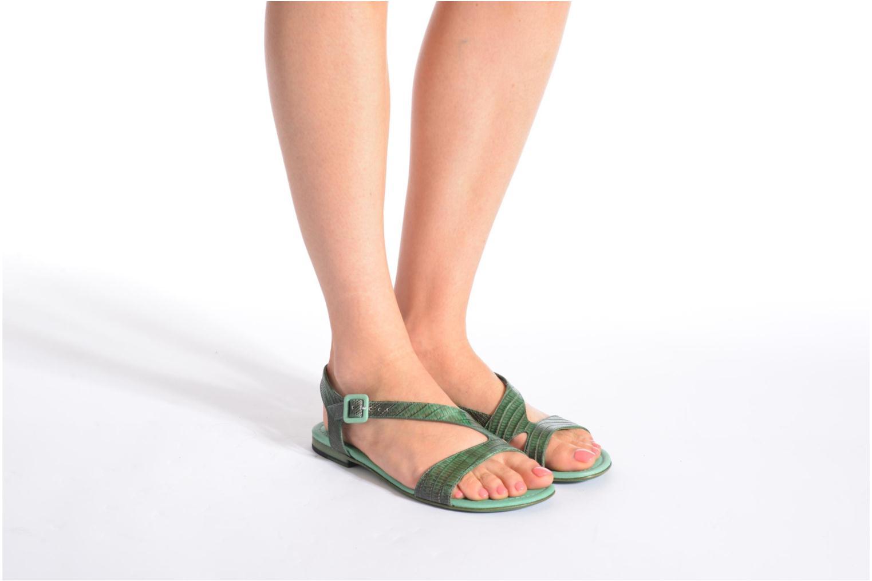Sandales et nu-pieds Free Lance Tylia Sanda Line Vert vue bas / vue portée sac
