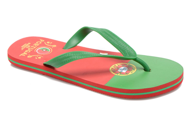 Chanclas EURO 16 Léonard Rojo vista de detalle / par