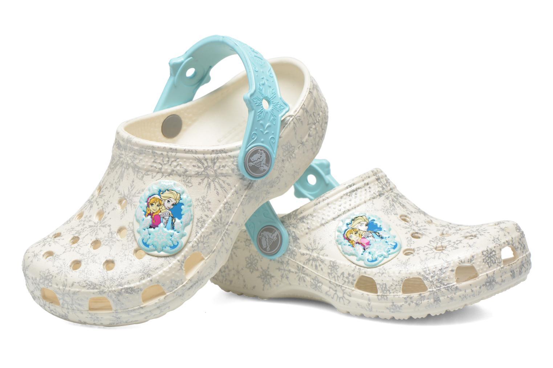 Sandales et nu-pieds Crocs Classic Frozen Clog K Blanc vue 3/4