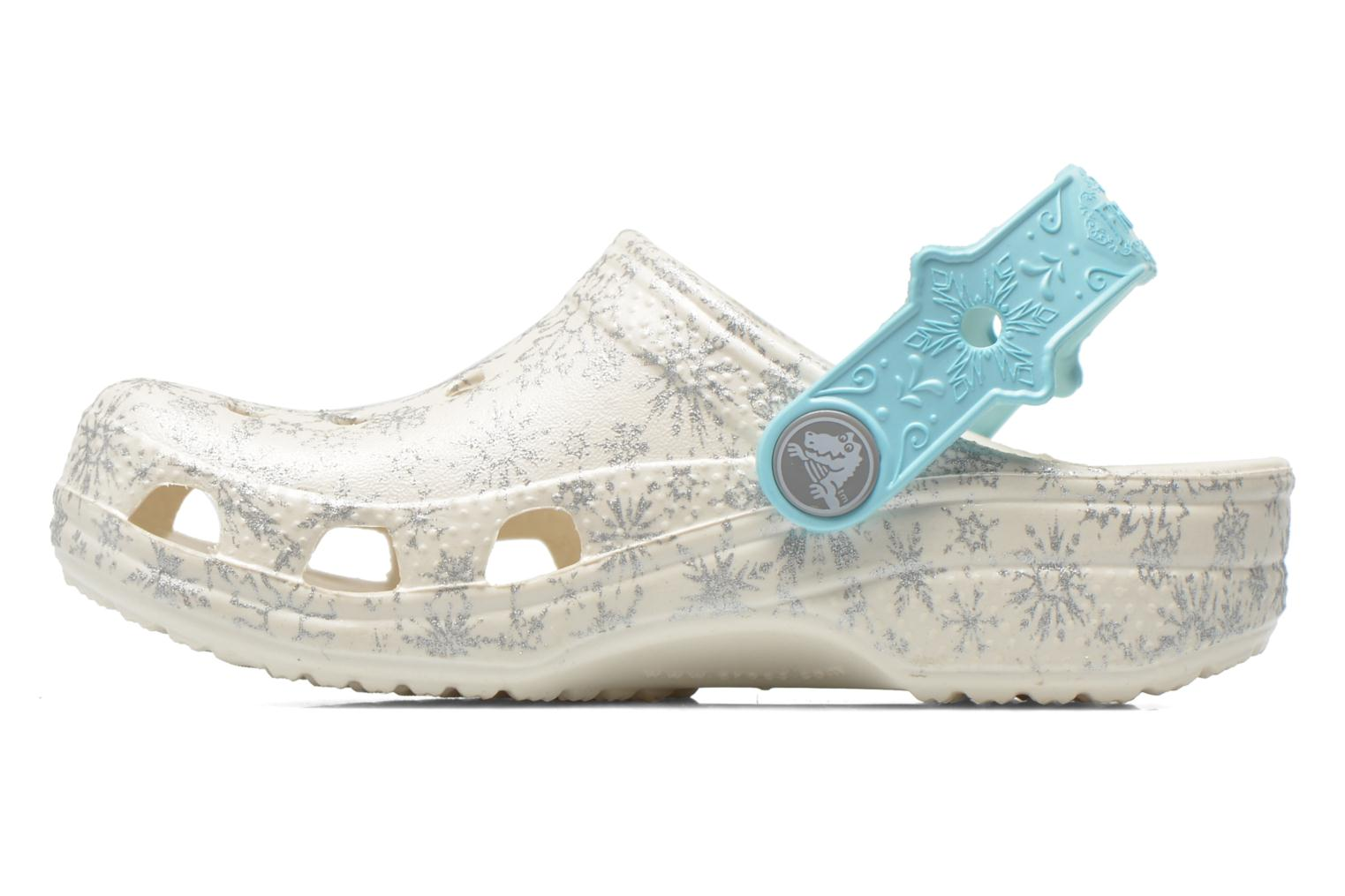 Sandals Crocs Classic Frozen Clog K White front view
