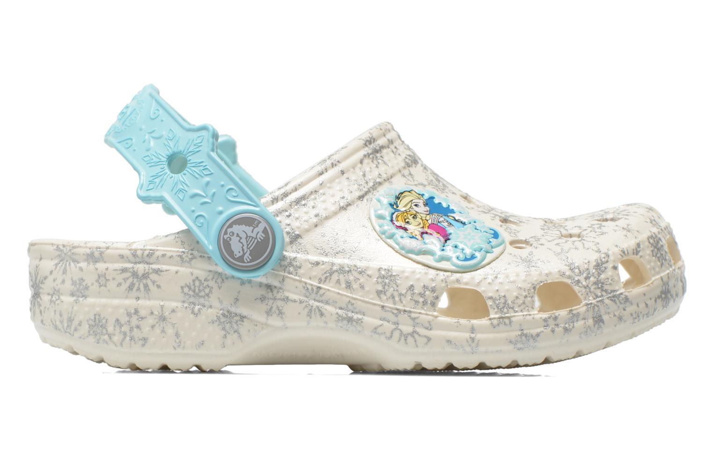Sandalias Crocs Classic Frozen Clog K Blanco vistra trasera
