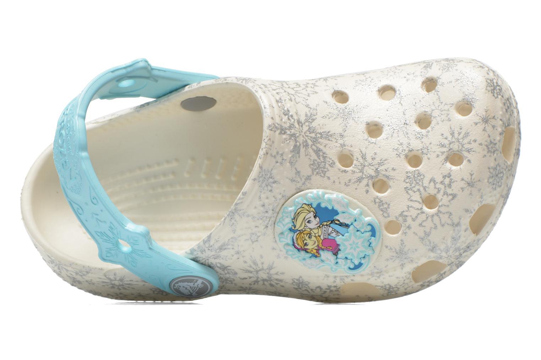 Sandalias Crocs Classic Frozen Clog K Blanco vista lateral izquierda