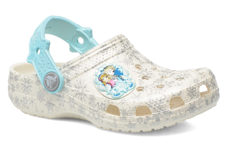 Sandales et nu-pieds Crocs Classic Frozen Clog K Blanc vue détail/paire
