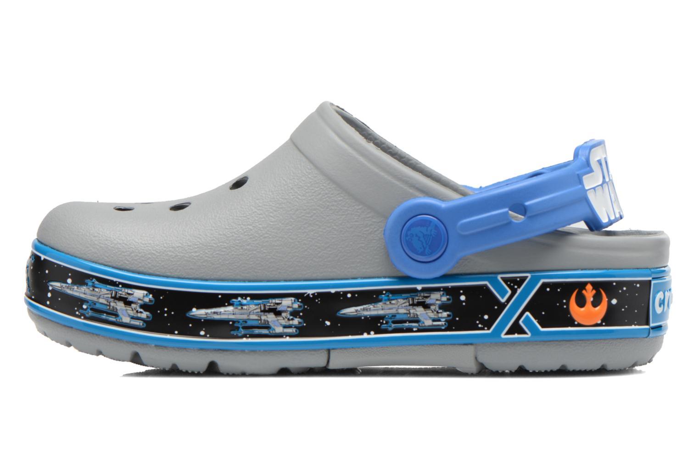 Sandales et nu-pieds Crocs CrocsLights StarWarsXwing Clog Gris vue face