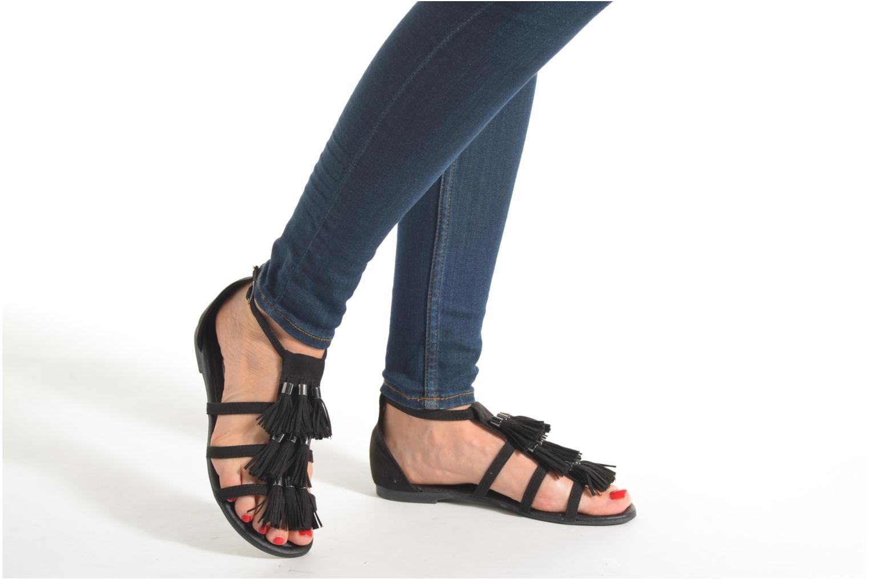 Sandales et nu-pieds I Love Shoes Kilia Noir vue bas / vue portée sac