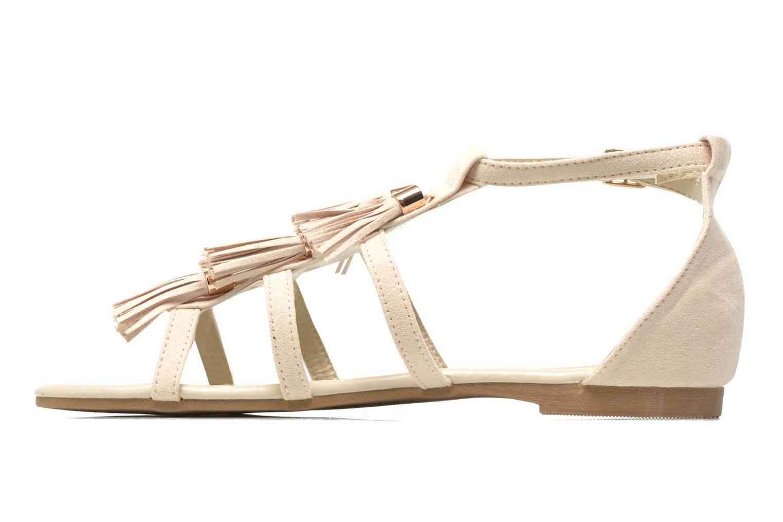 Sandales et nu-pieds I Love Shoes Kilia Beige vue face