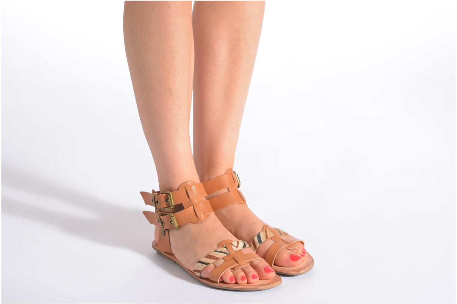 Sandals I Love Shoes Kiro Brown view from underneath / model view