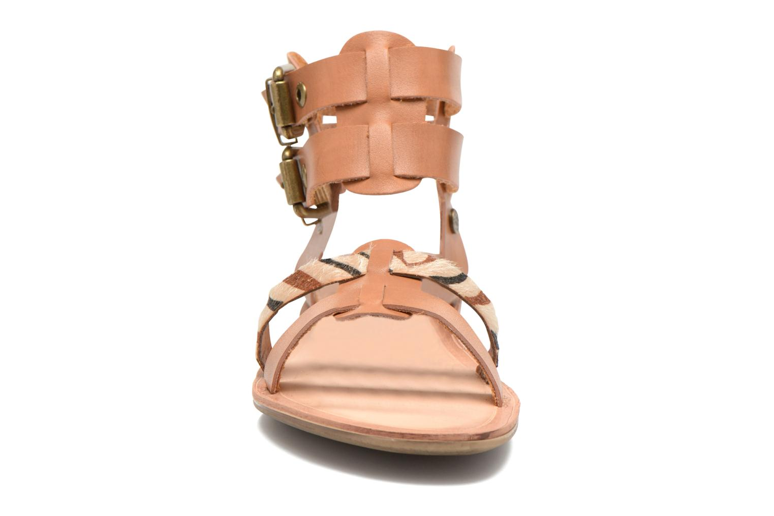 Sandals I Love Shoes Kiro Brown model view