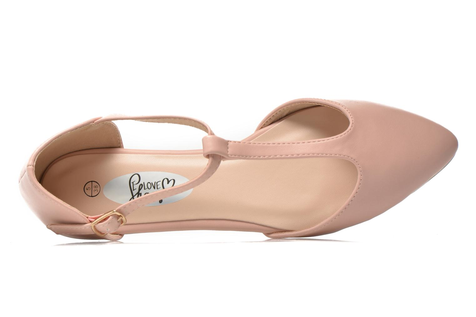 Ballerinas I Love Shoes Kiba rosa ansicht von links