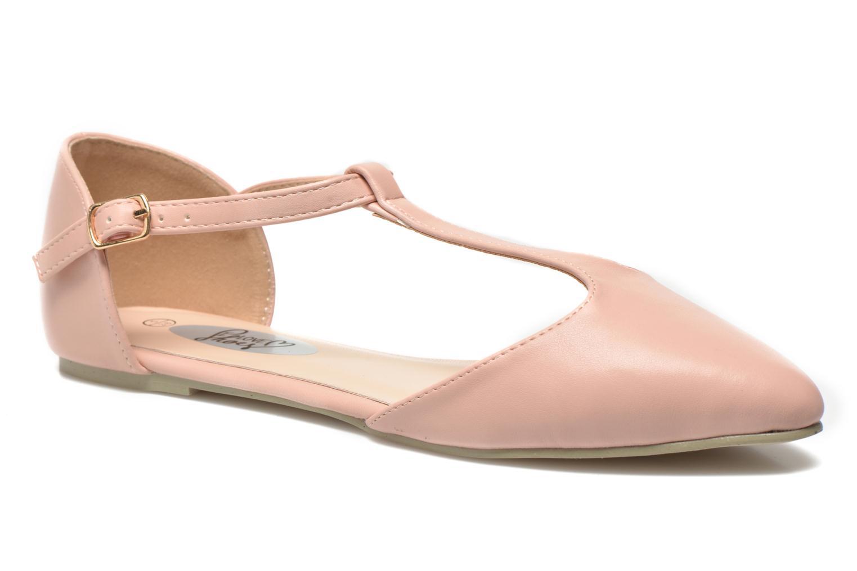 Ballerinaer I Love Shoes Kiba Pink detaljeret billede af skoene