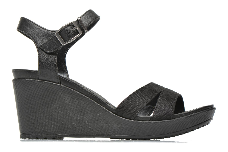 Sandales et nu-pieds Crocs Leigh II Ankle Strap Wedge W Noir vue derrière