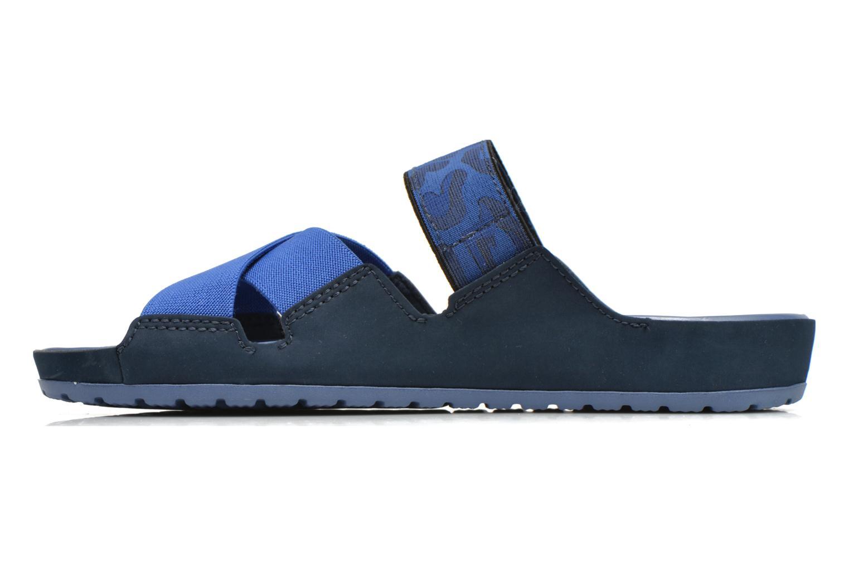 Clogs & Pantoletten Crocs Crocs Anna Slide blau ansicht von vorne