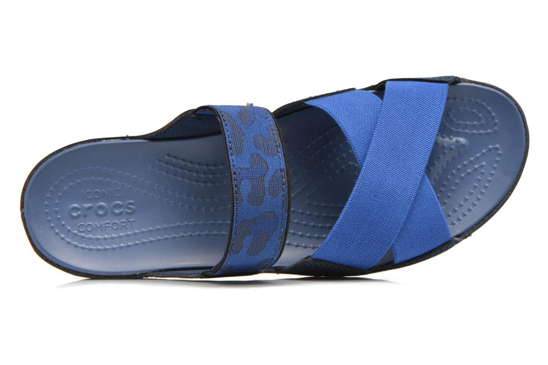 Mules et sabots Crocs Crocs Anna Slide Bleu vue gauche