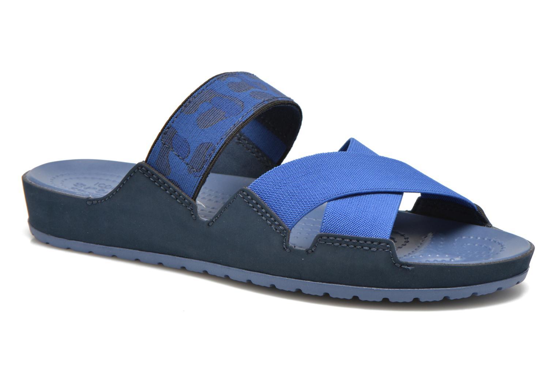 Mules et sabots Crocs Crocs Anna Slide Bleu vue détail/paire
