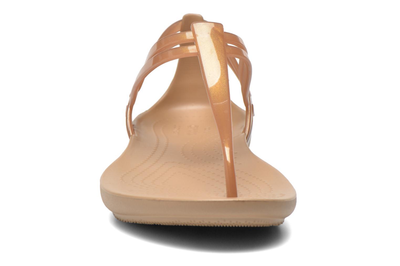 Sandales et nu-pieds Crocs Crocs Isabella T-strap Marron vue portées chaussures