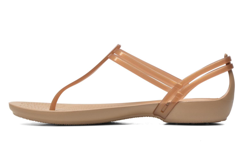 Sandales et nu-pieds Crocs Crocs Isabella T-strap Marron vue face