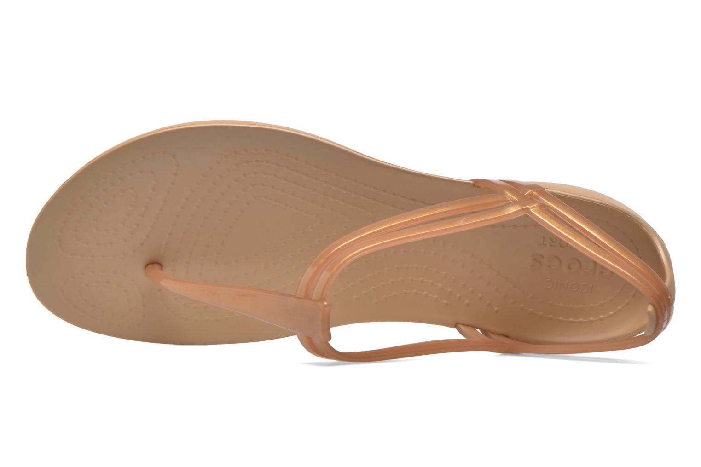 Sandales et nu-pieds Crocs Crocs Isabella T-strap Marron vue gauche