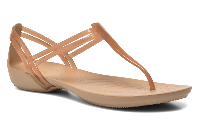 Sandales et nu-pieds Crocs Crocs Isabella T-strap Marron vue détail/paire