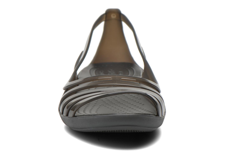 Sandales et nu-pieds Crocs Crocs Isabella Huarache Flat W Noir vue portées chaussures