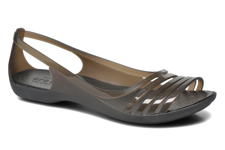 Sandales et nu-pieds Crocs Crocs Isabella Huarache Flat W Noir vue détail/paire