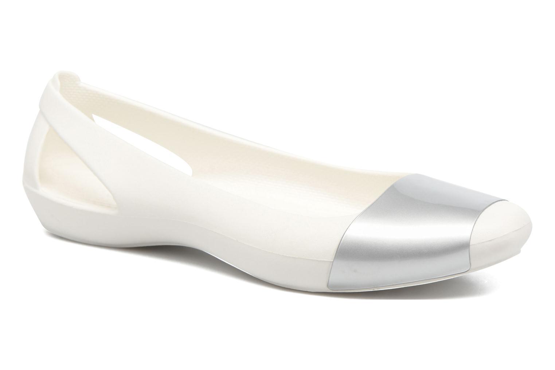 Ballerines Crocs Crocs Sienna Shiny Flat W Argent vue détail/paire