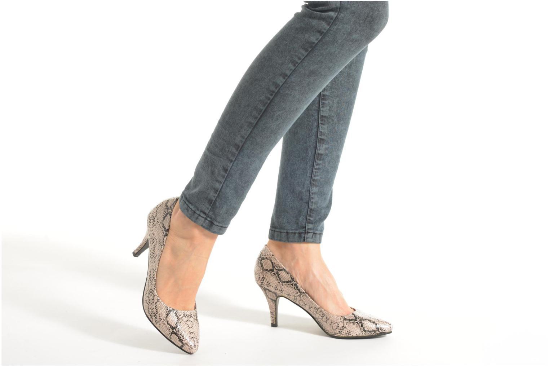 Escarpins I Love Shoes KIPOINT Beige vue bas / vue portée sac