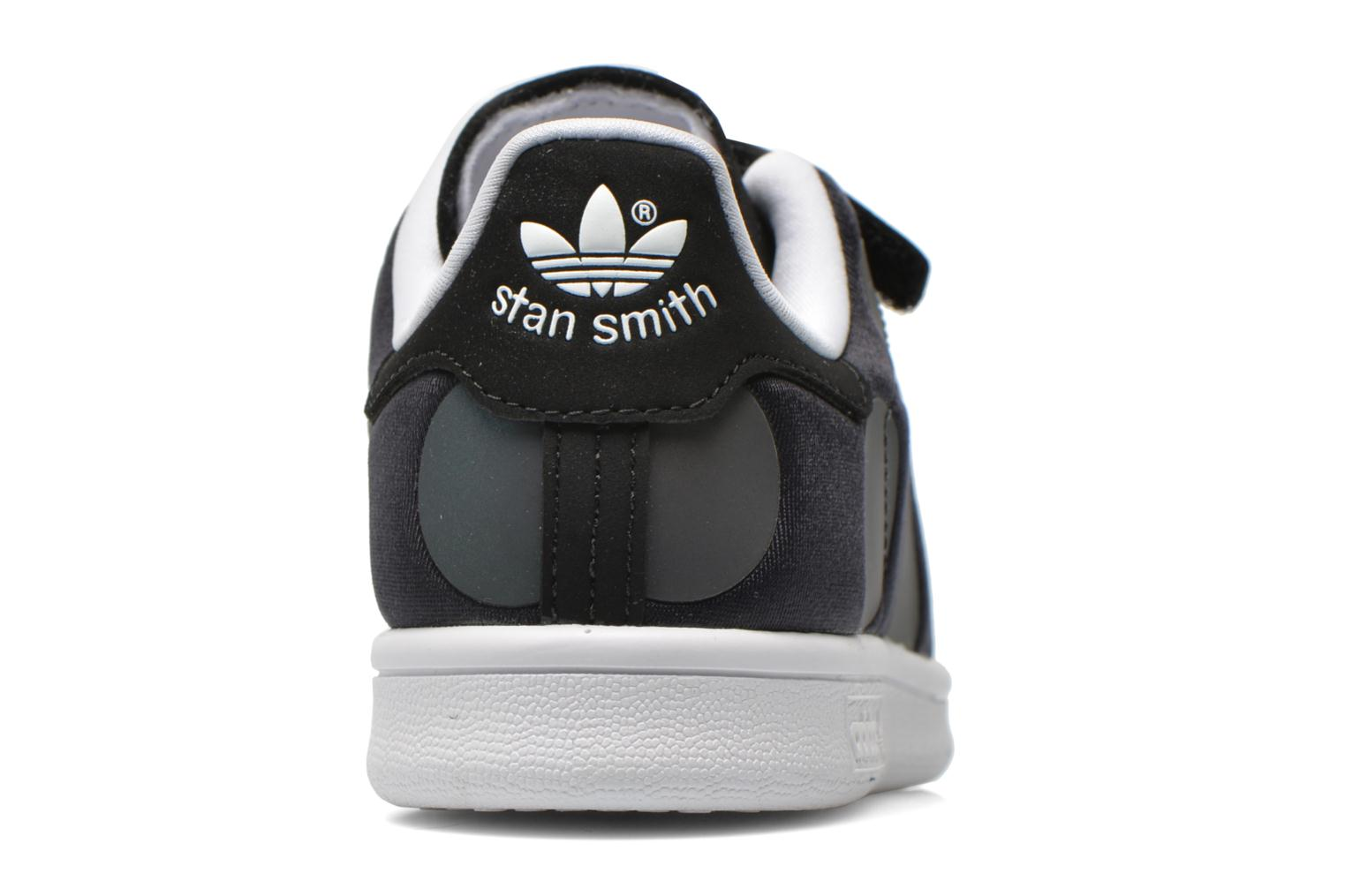 Trainers Adidas Originals Stan Smith Xenopeltis CF C Black view from the right
