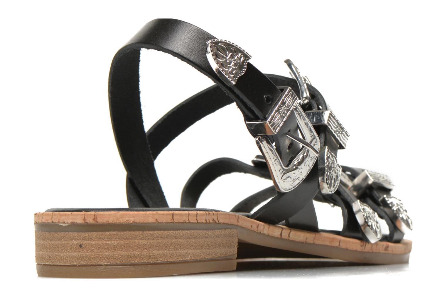 Sandals Made by SARENZA Tennessee Sister #5 Black model view