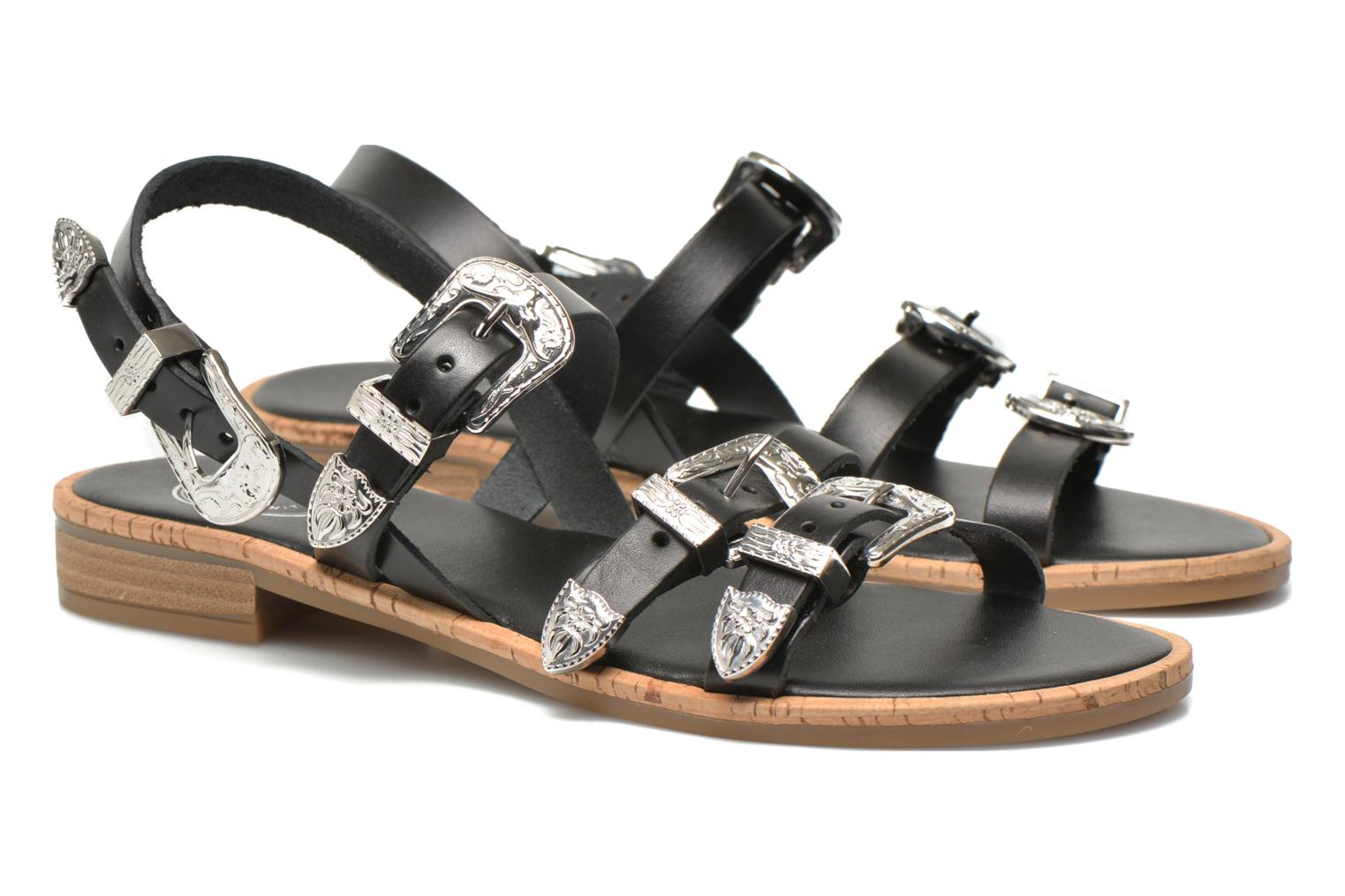 Sandals Made by SARENZA Tennessee Sister #5 Black view from the right