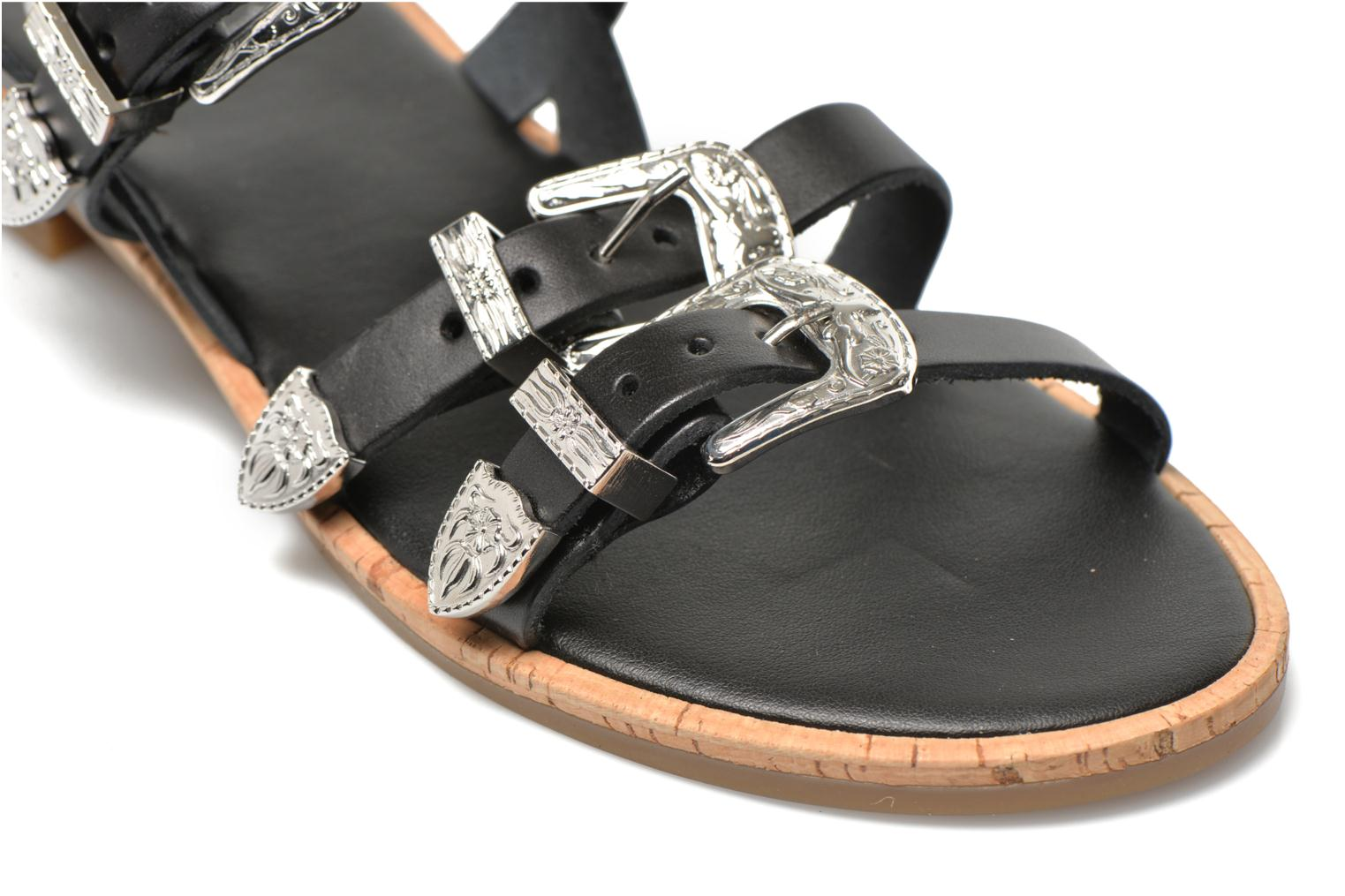 Sandals Made by SARENZA Tennessee Sister #5 Black back view