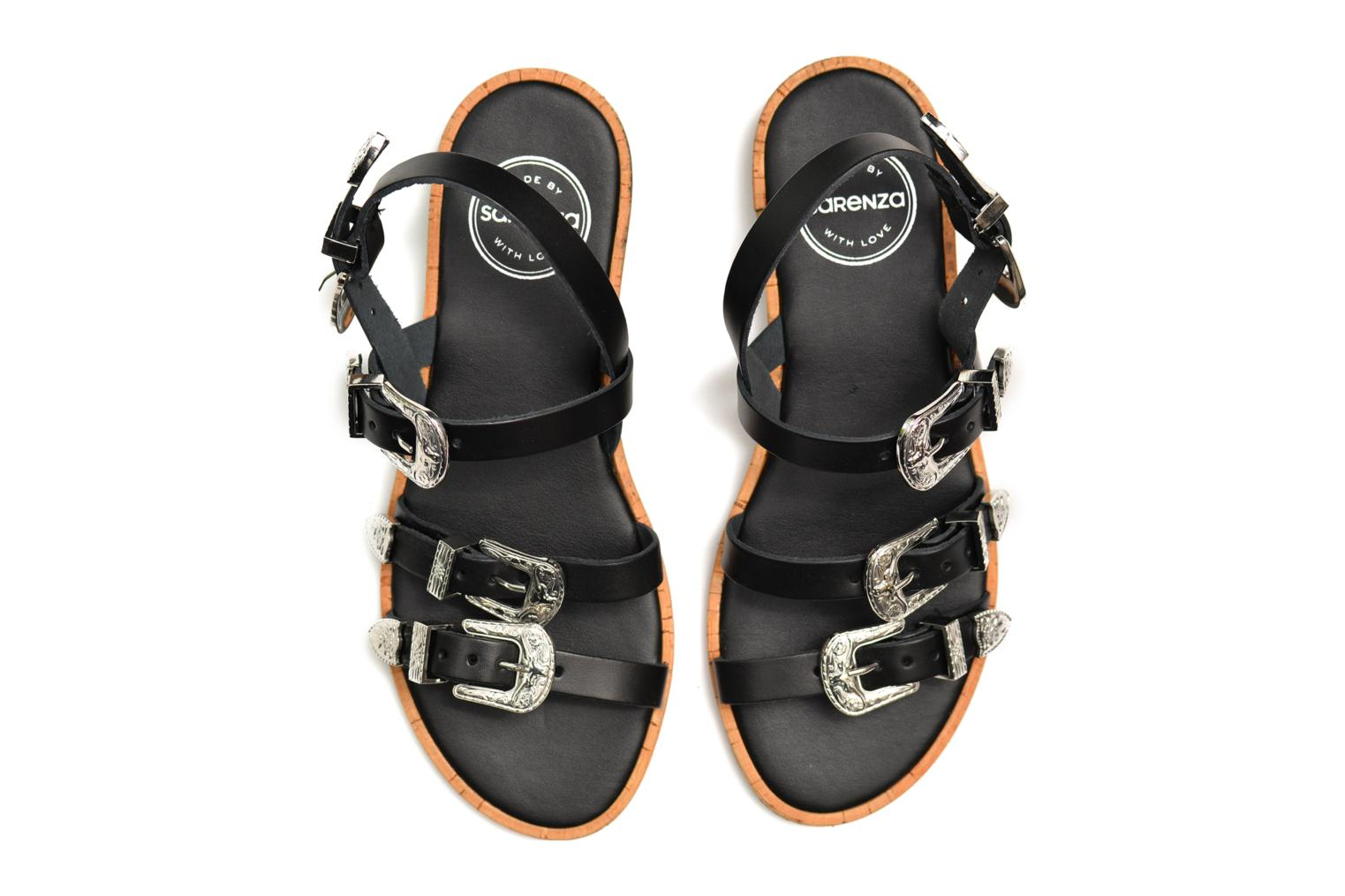 Sandals Made by SARENZA Tennessee Sister #5 Black view from above