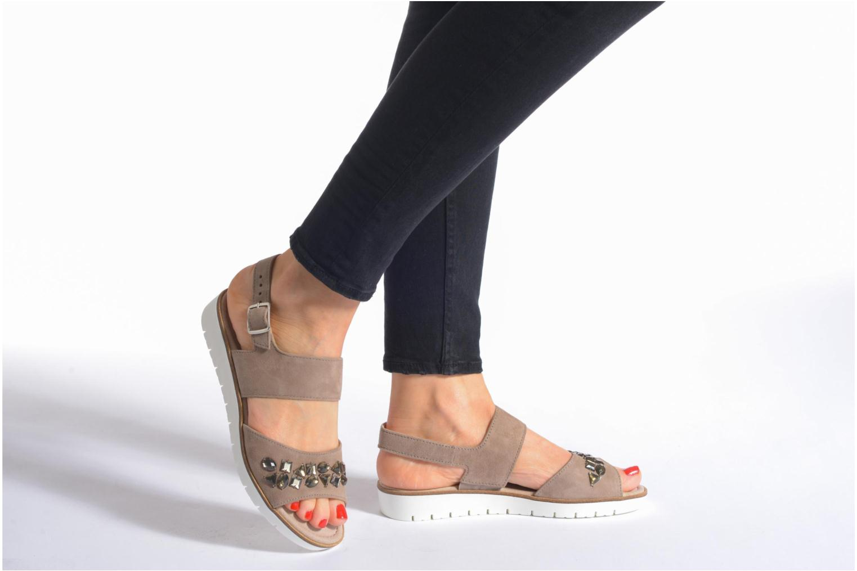 Sandales et nu-pieds Gabor Margaux Marron vue bas / vue portée sac