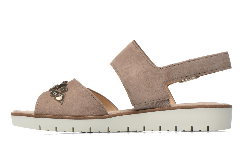 Sandales et nu-pieds Gabor Margaux Marron vue face