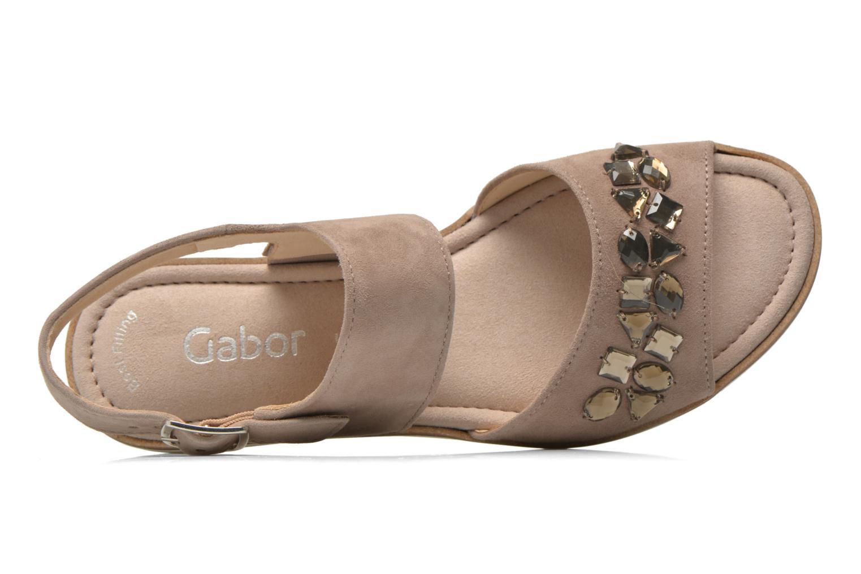 Sandales et nu-pieds Gabor Margaux Marron vue gauche