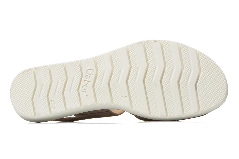 Sandales et nu-pieds Gabor Margaux Marron vue haut