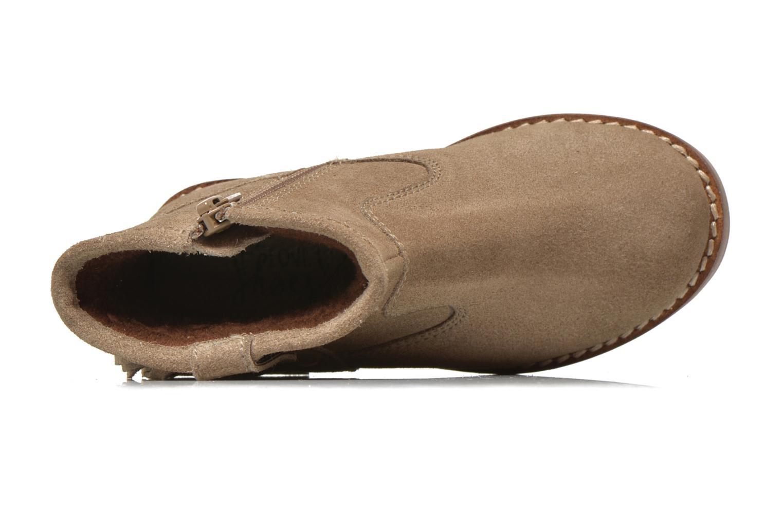 Bottines et boots I Love Shoes KERABAU Leather Beige vue gauche