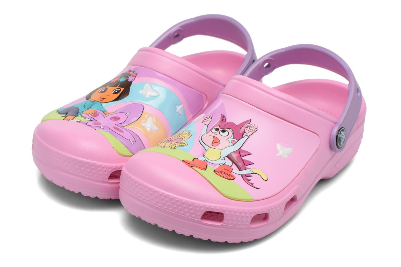 Sandales et nu-pieds Crocs CC Dora Butterfly Cl Rose vue 3/4
