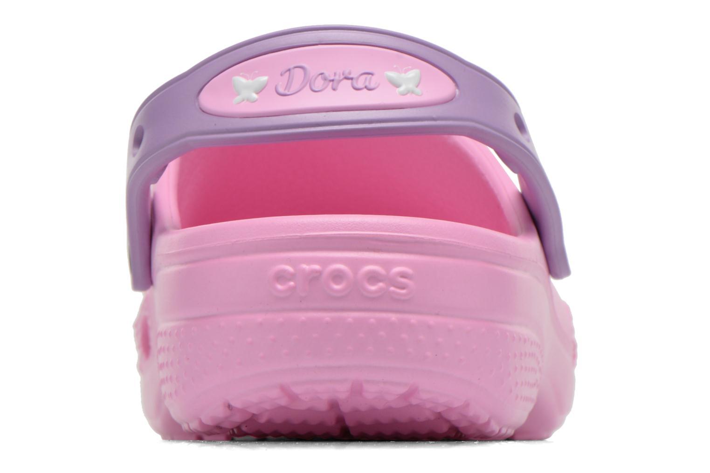 Sandales et nu-pieds Crocs CC Dora Butterfly Cl Rose vue droite