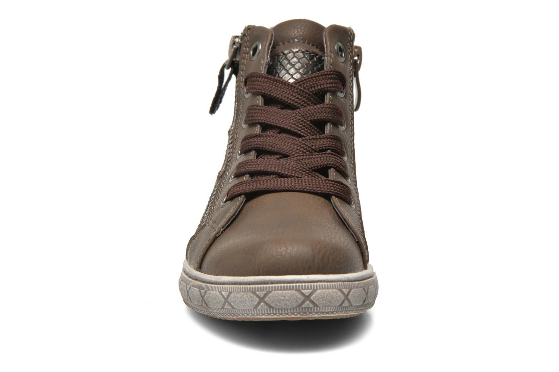 Baskets I Love Shoes SIRQUE Marron vue portées chaussures